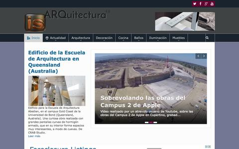 Screenshot of Home Page is-arquitectura.es - IS-ARQuitectura. Blog de Arquitectura y Diseño. - captured Sept. 19, 2014