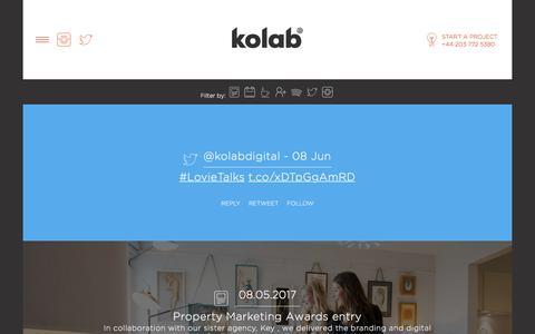 Screenshot of Press Page kolabdigital.com - Our News And Blog Posts | Kolab Digital - captured June 9, 2017