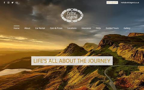 Screenshot of Home Page celticlegend.co.uk - Planning a Trip To Scotland, England or Ireland? - Celtic Legend Travel - captured Sept. 25, 2018