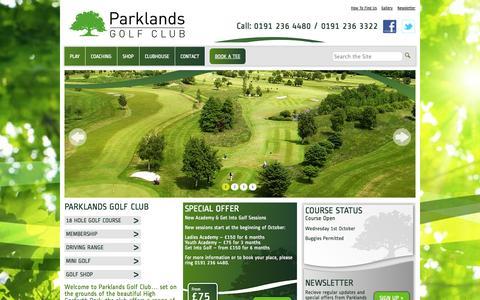 Screenshot of Home Page parklandsgolf.co.uk - Parklands Golf Course — - captured Oct. 1, 2014