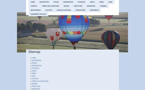 Screenshot of Site Map Page airdisplay.ca - Air Display Hot Air Balloon Team - Toronto Balloon Tours - captured July 29, 2018