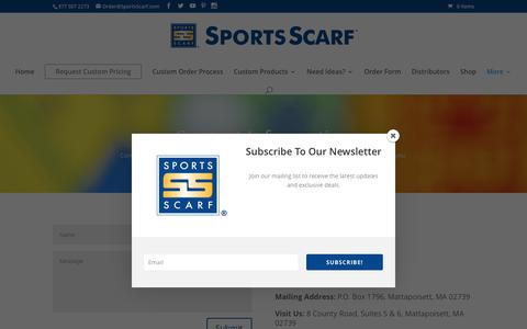 Screenshot of Contact Page sportsscarf.com - Contact Us - SportsScarf - captured Feb. 15, 2016