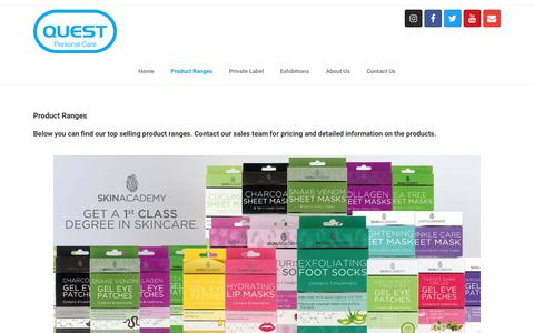 Screenshot of Products Page qpcglobal.com - Our Range Of Personal Care Products - QPC Global - captured Dec. 13, 2018