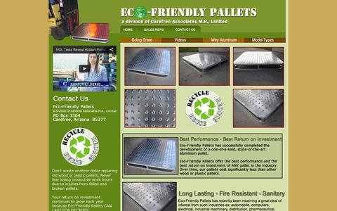 Screenshot of Home Page eco-friendlypallets.com - Eco Friendly Pallets - captured Oct. 1, 2014