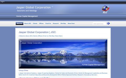 Screenshot of Home Page jasperglobal.com - Jasper Global Corporation | JGC - Jasper Global Corporation :: Jasper Global Corporation - captured Feb. 4, 2016