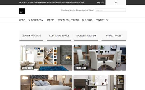 Screenshot of Home Page homefurniturerange.co.uk - Home Furniture Range - captured July 15, 2016