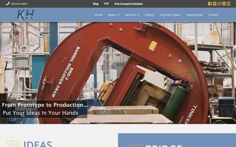 Screenshot of Home Page kandhprecision.com - Foundry - part design - machining services - K& H Precision - captured Dec. 15, 2018