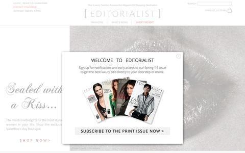 Screenshot of Home Page editorialist.com - Editorialist | Luxury Fashion Accessories Magazine & Online Store - captured Feb. 6, 2016
