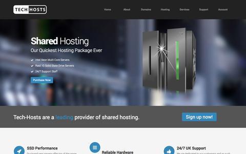 Screenshot of Home Page tech-hosts.co.uk - Tech-Hosts :: Technology Made Simple - captured Sept. 22, 2014