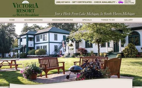 Screenshot of Contact Page Maps & Directions Page victoriaresort.com - Discover Our Inviting Lodging Alternative to Hotels in South Haven MI - captured Oct. 19, 2018