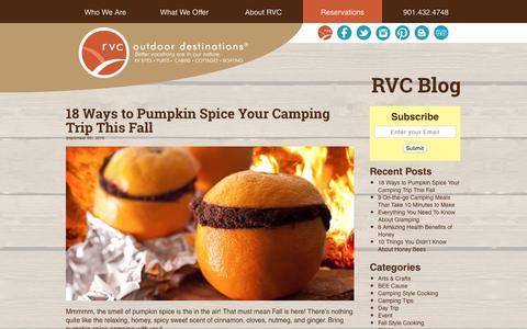 Screenshot of Blog rvcoutdoors.com - RVC Outdoor Destination Blog - Outdoor Vacations - captured Sept. 21, 2016