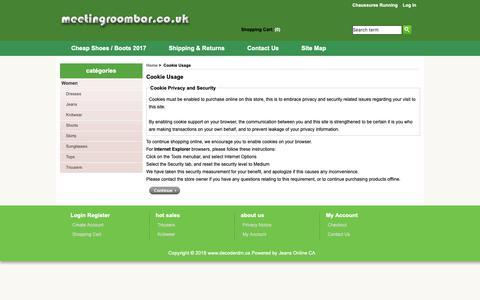 Screenshot of Login Page decoderdm.ca - Cookie Usage : www.decoderdm.ca - captured Nov. 13, 2018