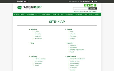 PlastekCards.com Site Map
