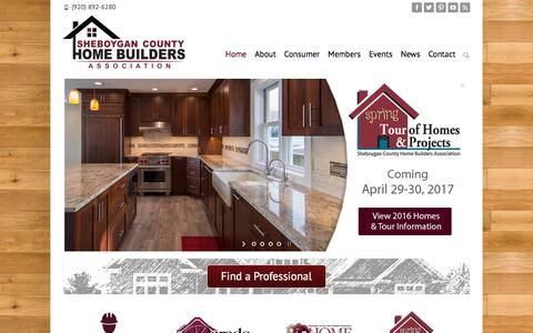 Screenshot of Home Page schba.org - Find Builders, Contractors, Carpenters, Architects, Landscapers - captured Dec. 3, 2016