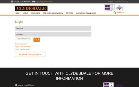 Screenshot of Login Page clydesdale.net - Login | Clydesdale - captured Aug. 7, 2017