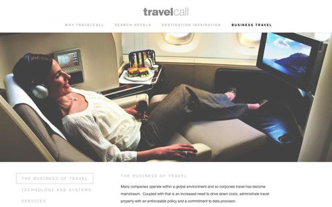 Screenshot of Services Page travelcall.com.au - Australia's Best Boutique Corporate Agency -Travelcall - captured Oct. 20, 2018