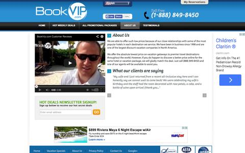 Screenshot of About Page bookvip.com - About Us - captured Sept. 19, 2014