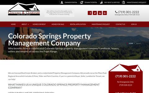 Screenshot of About Page galvanandgardner.com - Colorado Springs Property Management Company   Galvan & Gardner - captured Nov. 10, 2018