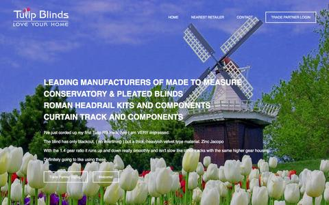 Screenshot of Home Page tulipblinds.com - Tulip Blinds - captured Feb. 22, 2016