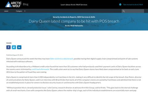 Dairy Queen latest company to be hit with POS breach