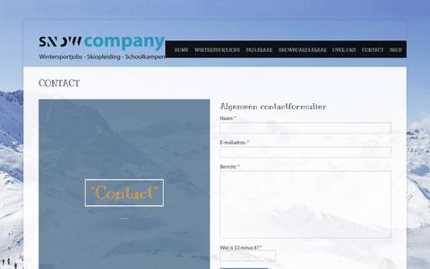 Screenshot of Contact Page wintersportjobs.nl - Contact – Wintersportjobs en Skiopleiding - captured Nov. 30, 2016