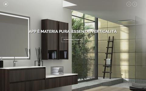 Screenshot of Home Page isabagno.it - ISA bagno | Progetta e realizza arredamento ed accessori per bagno: profilo aziendale, collezioni. - captured Oct. 4, 2014