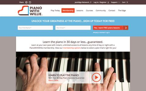 Screenshot of Signup Page jazzedge.com - Membership - PianoWithWillie - captured Nov. 2, 2014