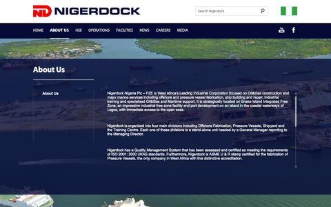 Screenshot of About Page nigerdock.com - Nigerdock - About Us - captured Oct. 7, 2014