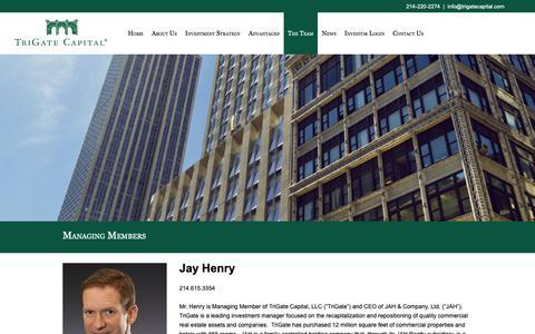 Screenshot of Team Page trigatecapital.com - Managing Members | TriGate Capital - captured Oct. 20, 2018