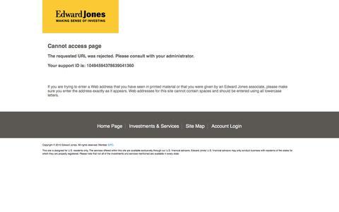 Edward Jones   Cannot access page
