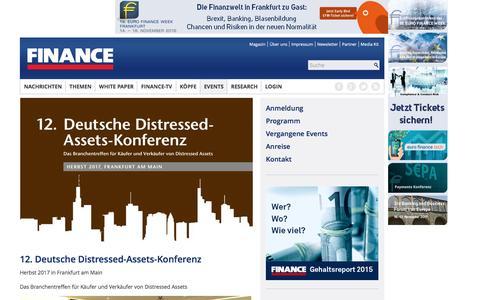 Deutsche Distressed-Assets-Konferenz-FINANCE Magazin