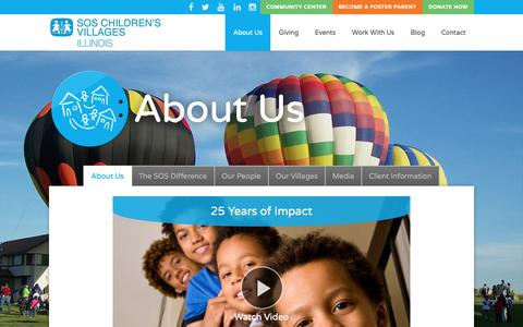 Screenshot of About Page sosillinois.org - Who We Are – SOS Children's Villages Illinois - captured Oct. 1, 2018