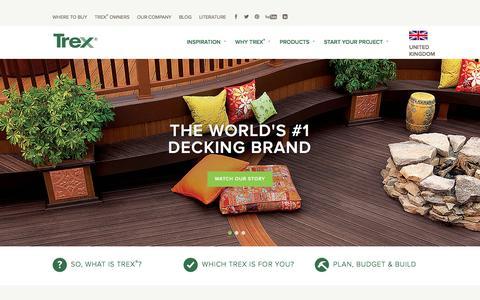 Screenshot of Contact Page trex.com - Wood Alternative Deck, Railing, Lighting and Furniture - Trex - captured Jan. 23, 2016