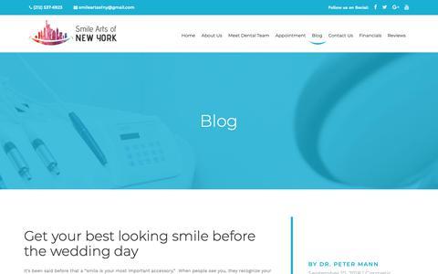 Screenshot of Blog smileartsny.com - Blog | Cosmetic Dentist | Teeth Whitening NYC | Best dentist New York - captured Nov. 8, 2018