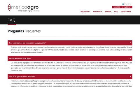 Screenshot of FAQ Page america-agro.com.ar - America Agro - Inteligencia Agropecuaria - captured Nov. 12, 2018