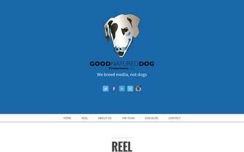 Screenshot of Home Page About Page Contact Page goodnatureddog.com - Good Natured Dog Productons, LLC. - captured Sept. 30, 2014