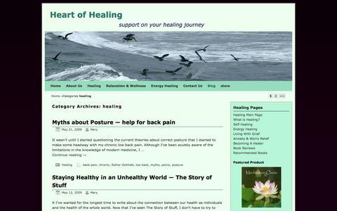 Screenshot of Blog heartofhealing.net - healing | Heart of Healing - captured March 1, 2017