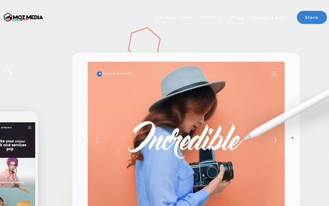 Screenshot of Home Page mozmedia.se - Moz Media AB – Vi gör det enklare, roligare och bättre, Funktionell design helt enkelt! - captured Oct. 20, 2018