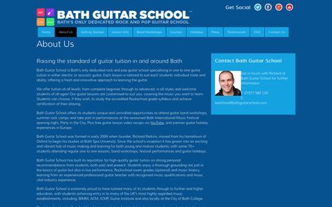 Screenshot of About Page bathguitarschool.com - About Us - captured Dec. 30, 2015