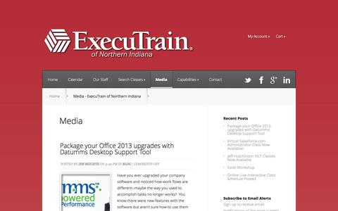 Screenshot of Press Page executrainni.com - Media - ExecuTrain of Northern Indiana - captured Oct. 3, 2014