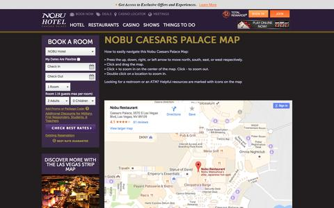 Screenshot of Maps & Directions Page caesars.com - Nobu Las Vegas Map - captured Oct. 19, 2016