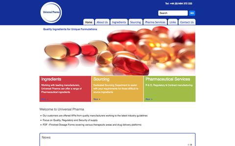 Screenshot of Home Page universalpharma.co.uk - Home - captured Oct. 6, 2014