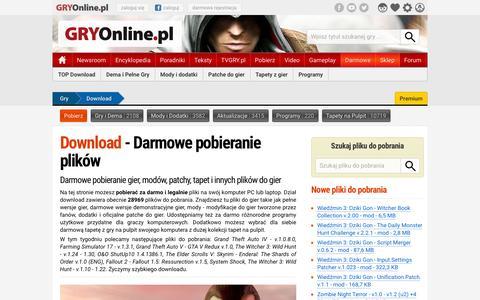 Download - Darmowe pobieranie plikĂłw | GRYOnline.pl