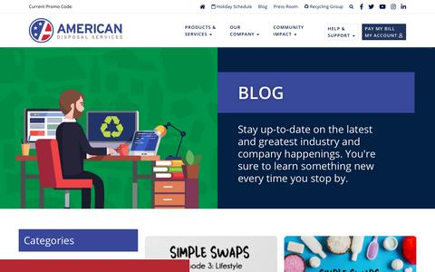 Screenshot of Blog americandisposal.com - American Disposal Services  » Blog - captured Jan. 9, 2020