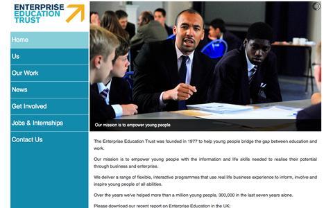 Screenshot of Home Page enterprise-education.org.uk - Enterprise Education Trust | Home - captured Oct. 1, 2014