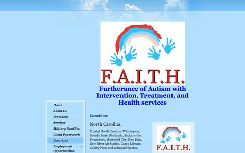 Screenshot of Locations Page faithisallyouneed.net - F.A.I.T.H. - Locations - captured Oct. 6, 2014