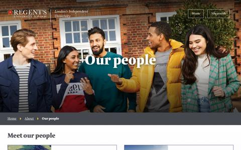 Screenshot of Team Page regents.ac.uk - Our people | Regent's University London - captured Jan. 25, 2019