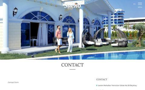 Screenshot of Contact Page sueno.com.tr - Sueno Hotels | Contact - captured Nov. 3, 2017