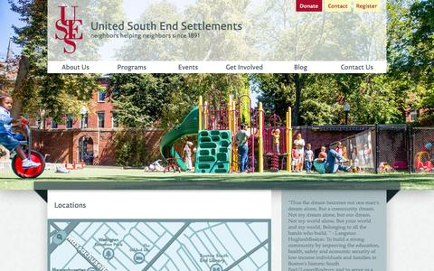 Screenshot of Locations Page uses.org - USES | Locations - captured Oct. 6, 2014
