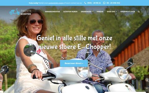 Screenshot of Home Page twentescooter.nl - Scooterverhuur in Twente - Twentescooter.nl - captured Nov. 9, 2018
